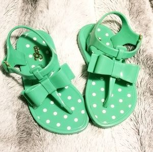 Gap Girls 7 Green Jel Sandals Barely Used